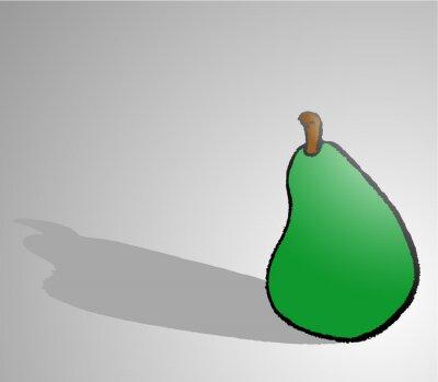 Väggdekor päron draw