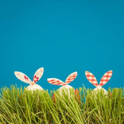 Väggdekor Påskägg på grönt gräs
