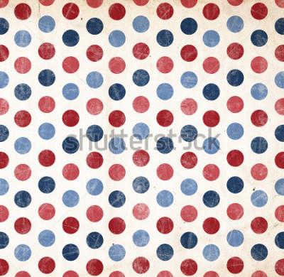 Väggdekor Patriotisk bakgrund - Röda och Blå prickar