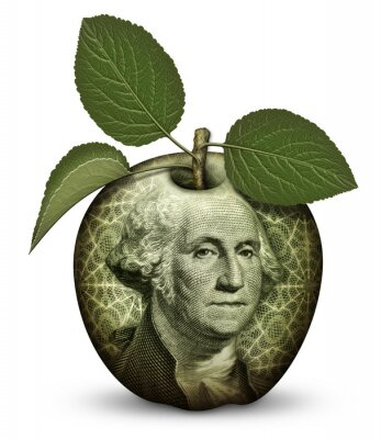 Väggdekor pengar Apple