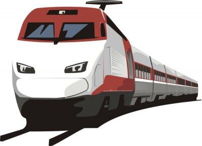 Väggdekor persontåg
