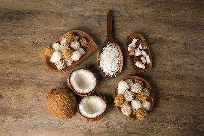 Väggdekor Peruanska cocadas sålde en traditionell coconut dessert vanligtvis på