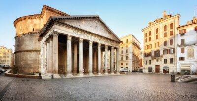 Väggdekor Piazza della Rotonda e il Pantheon, Roma