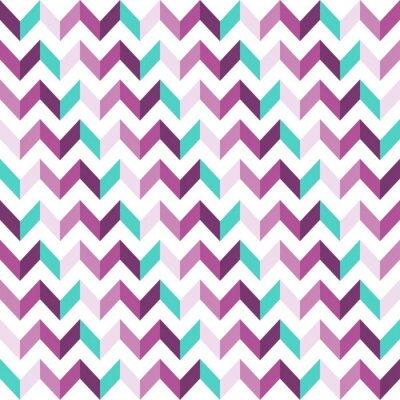 Väggdekor Pink Chevron sömlösa mönster