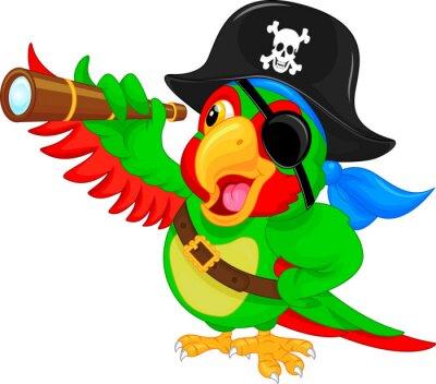 Väggdekor pirat papegoja tecknade