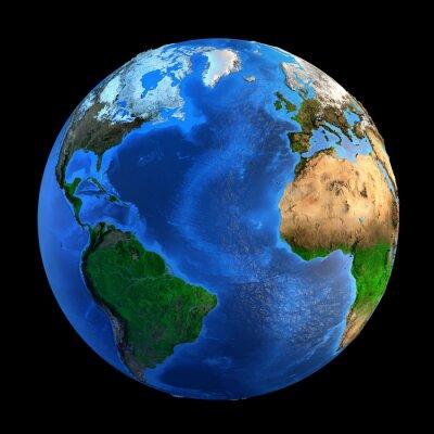 Väggdekor Planet Earth landforms