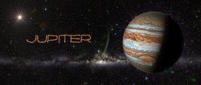 Väggdekor Planet Jupiter i yttre rymden.