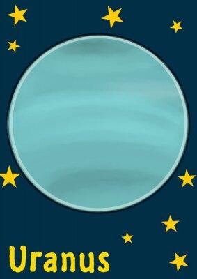 Väggdekor planet Uranus