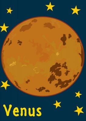 Väggdekor planet Venus