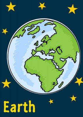Väggdekor Planeten jorden