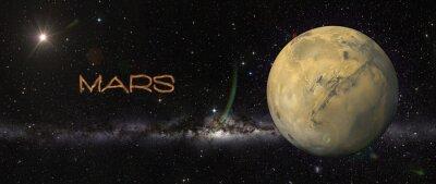 Väggdekor Planeten Mars i yttre rymden.