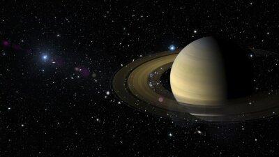 Väggdekor Planeten Saturnus i yttre rymden. Delar av denna bild som tillhandahålls av NASA