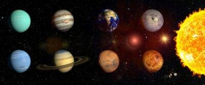 Väggdekor Planeter i vårt solsystem
