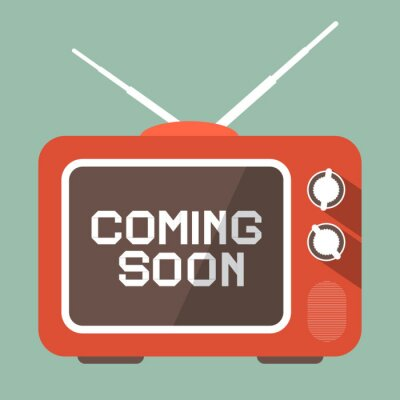 Väggdekor Platt design Kommer snart Vector titel på Retro TV-skärmen