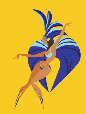 Väggdekor platt geometrisk design dans samba drottning