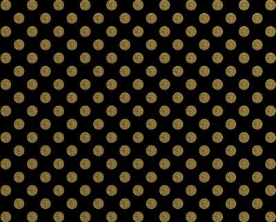 Väggdekor Polkaen mönster gyllene dot