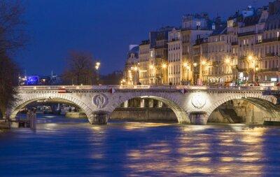 Väggdekor Pont Saint Michel, Paris, Frankrike.