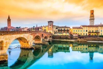 Väggdekor Ponte di Pietra i Verona, Italien