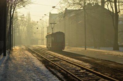 Väggdekor Poranny tramwaj