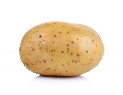 Väggdekor potatis på vit bakgrund