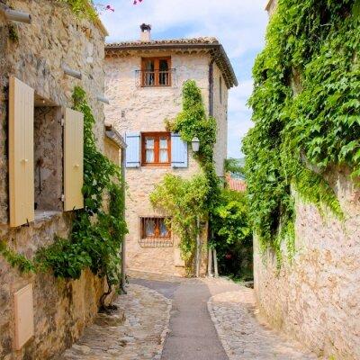 Väggdekor Pretty stenhus i en pittoresk by i Provence, Frankrike