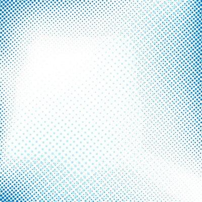 Väggdekor Prickade blå abstrakt retro bakgrund