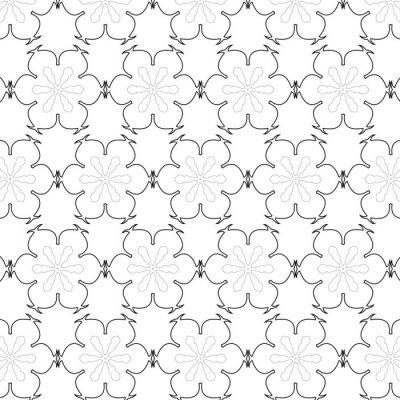 Väggdekor Primitiv enkel grå retro seamless