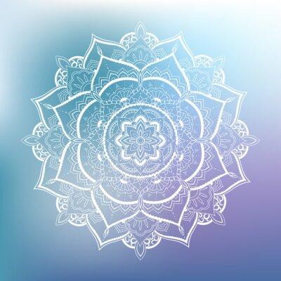 Väggdekor Prydnads hålcirkel. mandala