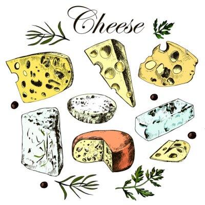Väggdekor räcka att dra in med olika ostar