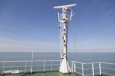 Väggdekor Radarmasten på översta däck av ett lastfartyg