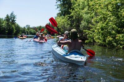 Väggdekor Rafting på Vorskla floden.