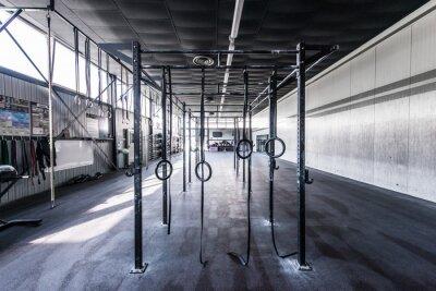 Väggdekor Rak vy med crossfit gym med sol