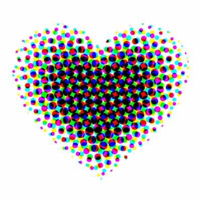 Väggdekor rastrerad hjärta