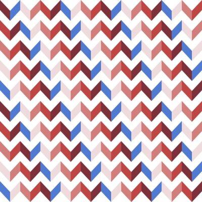 Väggdekor Red Chevron sömlösa mönster