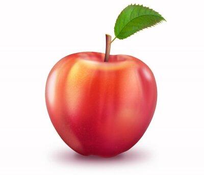 Väggdekor Reifer Apfel, freigestellt