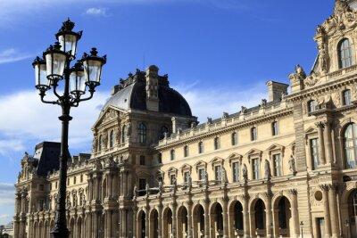 Väggdekor Renässansens arkitektur vid Louvren, Paris