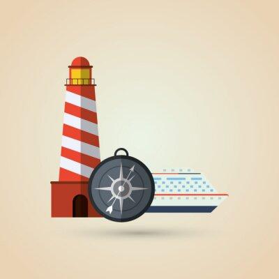 Väggdekor Resor ikonen design