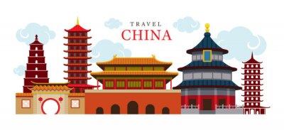 Väggdekor Resor Kina Building och staden, destination, sevärdhet, Traditionell kultur