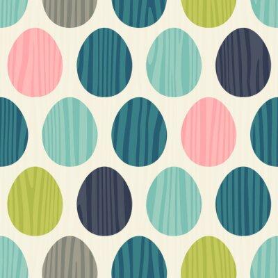 Väggdekor retro färg vektor seamless påskägg mönster