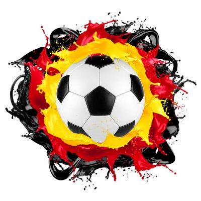 Väggdekor retro fotboll tysk flagga färgstänk