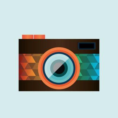 Väggdekor retro kamera konstruktion