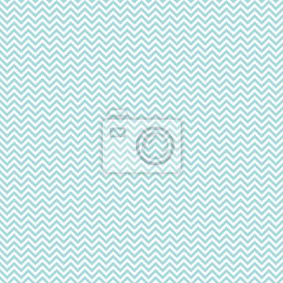 Väggdekor Retro sömlösa mönster Mini Chevron Turquoise