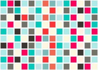 Väggdekor Retro Web Design Seamless Tiles - mosaik fyrkantig bakgrund vektor Texture