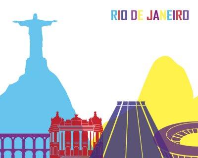 Väggdekor Rio de Janeiro horisont pop