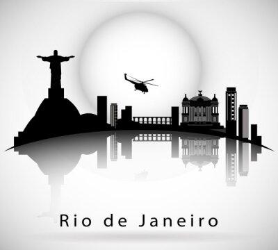 Väggdekor Rio de Janeiro Skyline