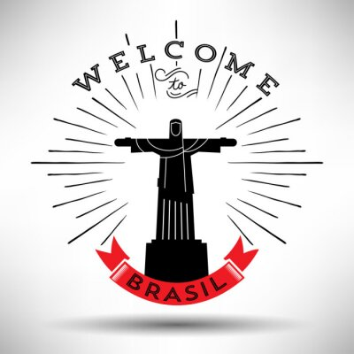 Väggdekor Rio de Janeiro Typografi Design