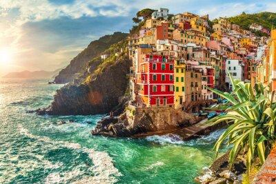 Väggdekor Riomaggiore, Cinque Terre, Italien