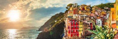 Väggdekor Riomaggiore panorama, Cinque Terre, Italien