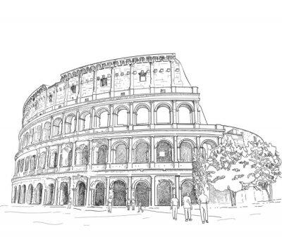 Väggdekor Ritning Colosseum
