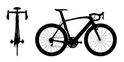 Väggdekor Road racing cykel silhuett 2in1 A